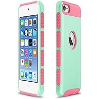 Xinda para iPod Touch 5 6 , TPU golpes Capa Dual Hybrid PC Slim Carcasa para iPod Touch 5 6 , plástico, Light Blue+Rose,