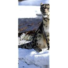 "peelitstickit ID-04460ancho x 130cm de altura ""Tigre blanco vinilo de alta calidad animal Mural"
