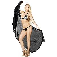 gonna bikini puro cotone 100% delle donne pianura beachwear coprire costume da bagno (Camicia In Cotone Piqué Sport)