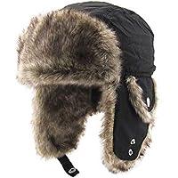 Sombrero Lei Feng de felpa gruesa y cálida, protectores de oídos, para invierno, al aire libre, esquí, sombrero de Lei Feng
