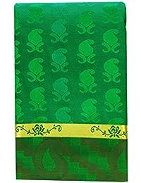 SARAVANABAVA SILKS Art Silk Saree With Blouse Piece (Srbs0321-E3_Green_Free Size)