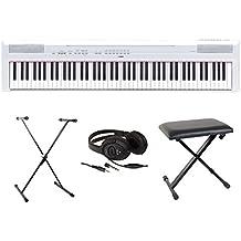 Yamaha Full Pack P115- Piano digital portátil, color blanco
