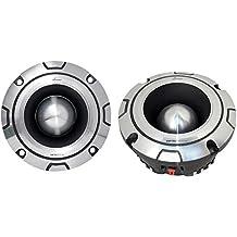 Lanzar OPTIBT44 Bullet Tweeter Optidrive - Altavoces para automóvil (aluminio, 600 W, 8,9 x 13,3 x 13,3 cm), 1 Unidad, color plateado