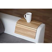 Bandeja de brazo de madera para sofá o sofá, con protectores de reposabrazos Light