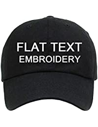 58c6000366661 Cotton Dad Cap Flat Embroidery Customize Your Own Baseball Hat - Black