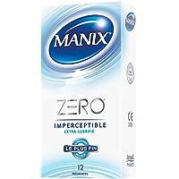 MANIX ZERO IMPERCEPTIBLE EXTRA LUBRIFIE - 12 préservatifs Ultra Fins et Extra Lubrifiés