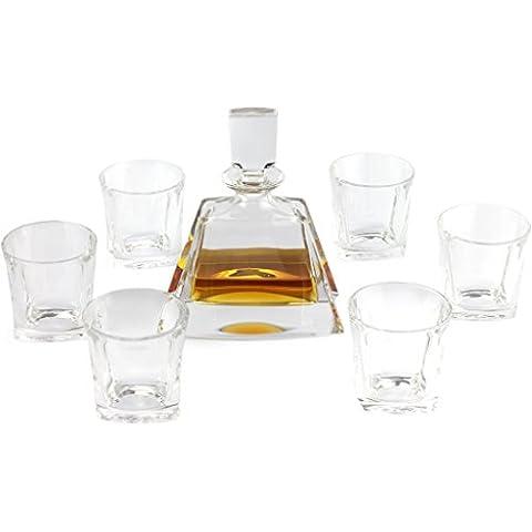 A.P. Donovan - Whisky caraffa / decanter - 500ml - Set con 6 bicchieri da whisky - Trapeza