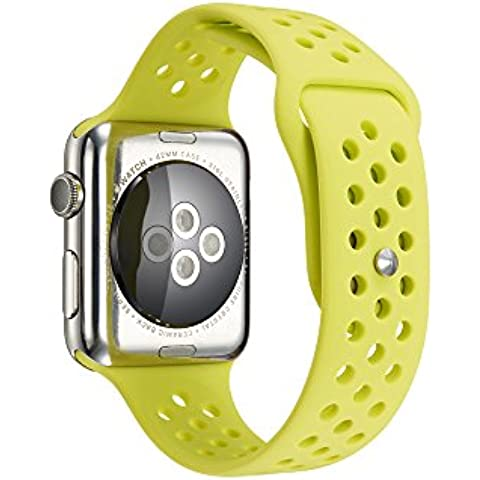 Per Apple Watch Serie 1Serie 2morbido silicone Sport Bracciale cinturino braccialetto cinturino di ricambio con rilascio rapido per Apple iWatch Sport Band - Bulova Mens Bracciali