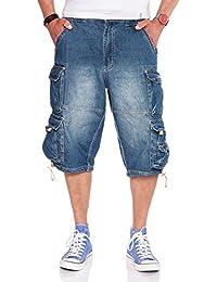 JET LAG Cargo Shorts 007 B Short in schwarz, cement, oliv und Denim light navy