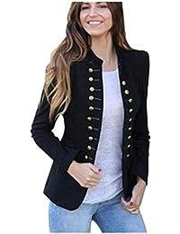 a455cb29e0448 BHYDRY Las Mujeres de Invierno cálido Vintage Tailcoat Chaqueta Sobretodo  Outwear Uniforme Botones Capa