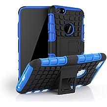 "Kit Me Out ES Carcasa resistente con atril Plástico rígido/ silicona para Apple iPhone 6 Plus 5.5"" pulgadas - Azul"
