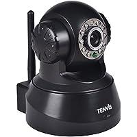 TENVIS de Wifi Inalámbrico / con cable de seguridad de red CCTV cámara IP Blanca IR de visión nocturna cámara web, iluminación Auto IR-LED para la visión nocturna (hasta 10 metros) (JPT3815 Negro)