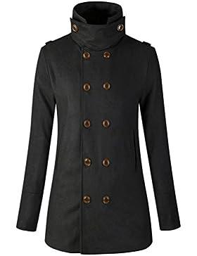 Escudo, abrigo,Internet Abrigo de abrigo de chaqueta caliente de mujer Abrigo largo delgado con doble botonadura