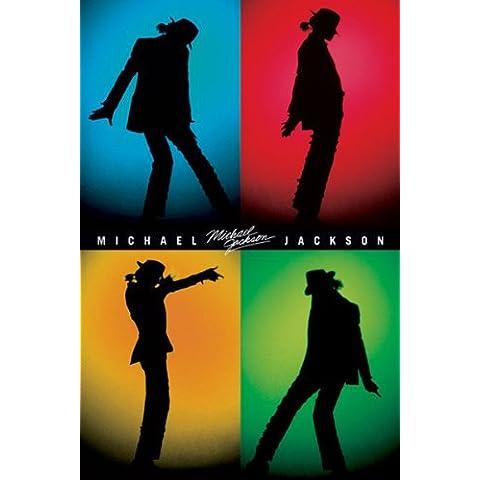 Michael jackson-silhouettes, Póster de impresión, 24por (91,4cm)