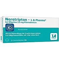 Naratriptan-1A Pharma bei Migräne 2,5mg 2 stk preisvergleich bei billige-tabletten.eu