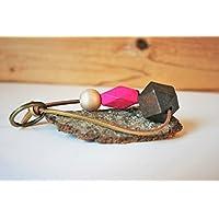 Schlüsselanhänger mit Holzperlen