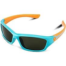 RIVBOS rbk025de goma flexible para gafas polarizadas gafas de sol para bebés y niños, edad 3–10(lentes de espejo disponible)