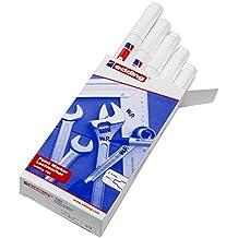 Edding 750-049 - Marcador de tinta opaca, 10 unidades, color blanco