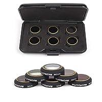 DJI MAVIC PRO/PLATINUM - Aerial Camera Lens Filter CPL, MCUV HD, ND4, ND8, ND16, ND32 (6pcs)