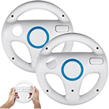 STOGA SVTM01 Wii controller White Steering Mario Kart Racing Wheel game controller for Nintendo Wii Remote Game-white(2 PCS)