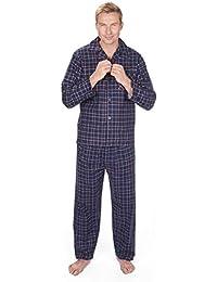 Brossé pour homme 100%  coton flanelle Pyjama d'hiver thermique, M, L, XL, XXL