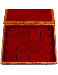 GiRiJA K16 Card Board and Rexine Jewellery Box (Red)