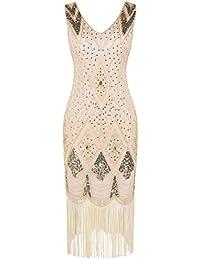 5c3591c53 PrettyGuide Mujeres 1920s Gatsby Cóctel Lentejuela Art déco Vestido Flapper