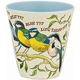 Emma Bridgewater - Garden Birds - 2 Tone Melamine beaker D8.8x9cm