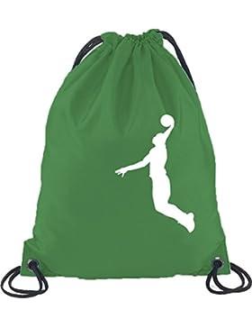 Shirtstreet24, BASKETBALL PLAYER, NBA Sport Turnbeutel Rucksack Sport Beutel