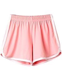 b69f259c3ca367 HCFKJ Shorts Damen, Frauen Dame Sommer Sport Shorts Abluftgebläse Strand  Kurze Hosen