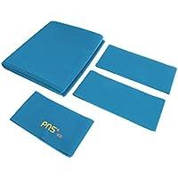 MagiDeal PNS900 Funda de Mesa de Billar de Snooker de Piscina Hilos de Rosca de Precisión 9 Pies 1 Pieza Tela de Cama + 6 Piezas Tiras de Tela de Cojín - Azul claro