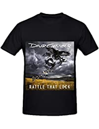 eb78d2b3aad3 David Gilmour Rattle That Lock Rock Mens Crew Neck Cool T Shirts XXXX-L