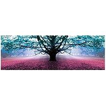 Cuadro Árbol de la Vida romántico Azul de Lienzo para Dormitorio de 150 x 50 cm
