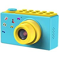 FishOaky Macchina Fotografica per Bambini, Fotocamera Digitale Portatile, Digital Camera Kids Videocamera HD 1080P / 8MP / Zoom Digitale 4X / LCD da 2 Pollici (Blu)