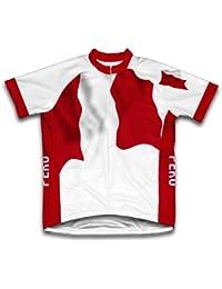 Peru Bandera Maillot de Ciclismo Manga Corta para Hombre - Talla 4XL