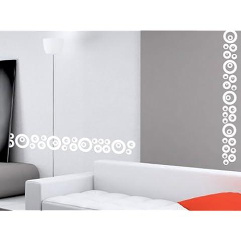 N1014 Moda Círculos Junta decoración vinilo, vinilo de la pared, etiquetas engomadas del arte, desprendible DIY tatuajes gráficos de vinilo
