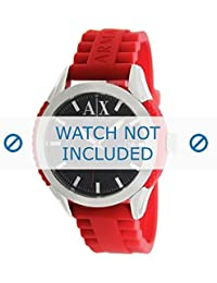 Armani correa de reloj AX1227 Caucho / plástico Rojo 22mm(Sólo reloj correa - RELOJ NO INCLUIDO!)