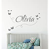 Personalised Name Wall Stickers - A beautiful kids name wall stickers for girls and boys nurseries and playrooms