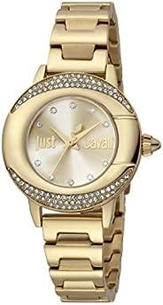 Just Cavalli Glam Chic JC1L150M0055 Women's Quartz Watch in Stainless Steel Pl