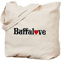 Cafepress–Buffalove–Borsa di tela naturale, tessuto in iuta