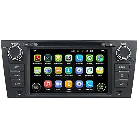 7 pollici Android 5.1.1 Lollipop OS Lettore DVD dell'automobile per BMW E90/E91/E92/E93(2005 2006 2007 2008 2009 2010 2011 2012), Quad Core 1.6G Cortex A9 CPU 16G Flash 1G RAM DDR3 1024x600 GPS Radio Ingresso Aux OBD2