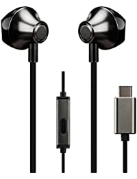 the best attitude 3aa48 fd631 Anskp - Auriculares Tipo C Type-c earphone1 Negro