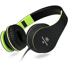 Sound Intone I68 - Auriculares de gran rendimiento  con conexión de 3,5mm, ligeros para niños y adultos, con control de volumen y microfono en dispositivo, compatible con Android/Apple/Samsung/MP3/PCs