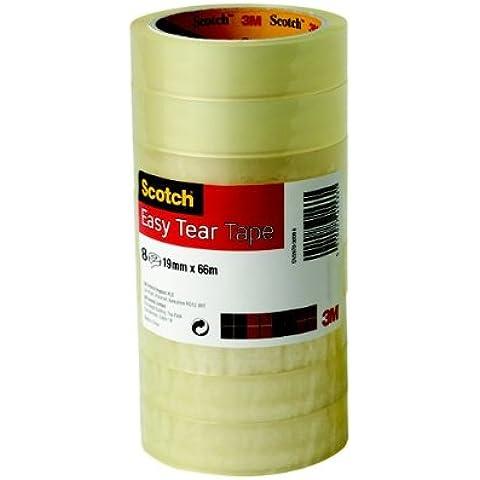 Scotch Easy Tear Transparent Tape 19mmx66m Ref