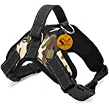 Sage Square Adjustable Cusion Padded Dog Sport Harness with Lifting Handle Extra Confortable (Large Dogs)