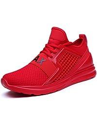 IIIIS-F Hombre Zapatillas de Senderismo Deportivas Aire Libre y Deportes Montaña y Asfalto Zapatos para Correr Running Malla Transpirable Casuales