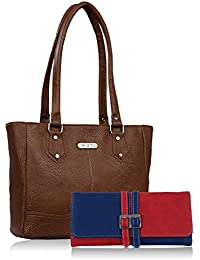 Fristo Women Handbag And Wallet Combo(FRWC-005)Brown