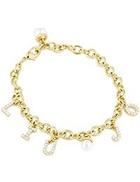 Bracciale Donna Ottone Gold con Zirconi e Perla Liu Jo Luxury 134ca100e08