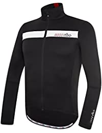 RH + Logo Thermo Jersey nerobianro S, camisetas (Ciclismo) Hombre, black-white-red, S