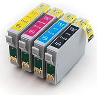 Odyssey Supplies High Quality Ink Cartridges Compatible with Epson Stylus SX200, SX215, D120, D78, D92, DX4000, DX4050, DX4400, DX4450, Office B40W, BX300°F, BX310FN, BX600FW, BX610FW, Stylus S20, S21, SX100, SX105, SX110, SX115, SX205, SX210, SX215, SX218, SX400, SX400W, WIFI, SX405, SX405W, SX410, SX415, SX510W, SX515W, SX600FW, SX610FW, 4 inks